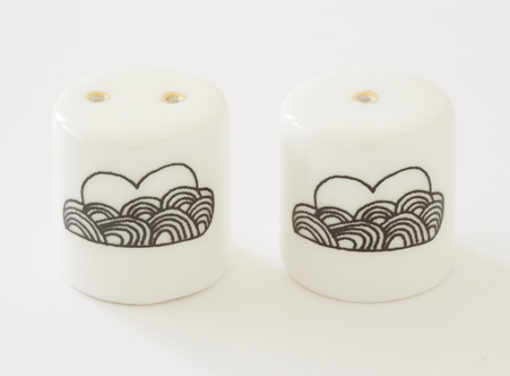 ceramic salt and pepper shakers with clouds