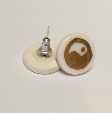 Porcelain Earrings – Yin Yang