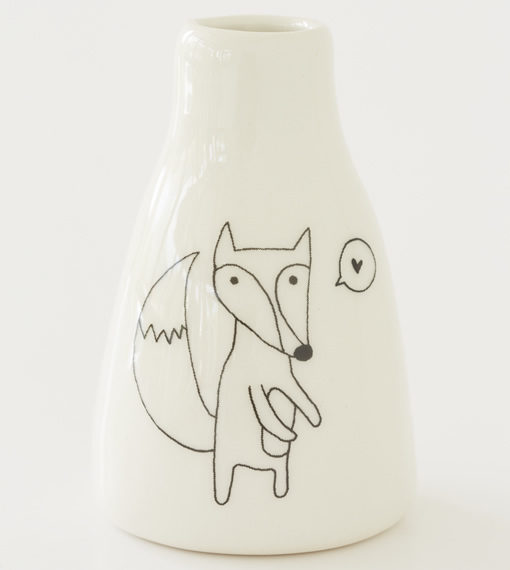 Short Vase - Cute Fox