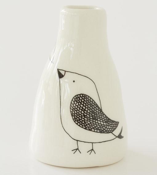 Short Vase - Cute Short Birdy