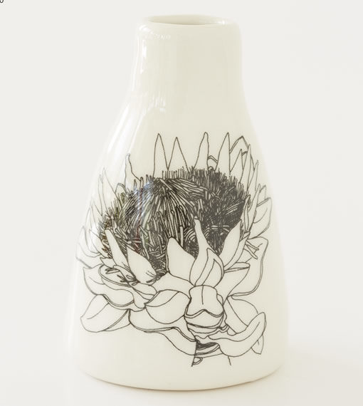 Short Vase - Full Protea