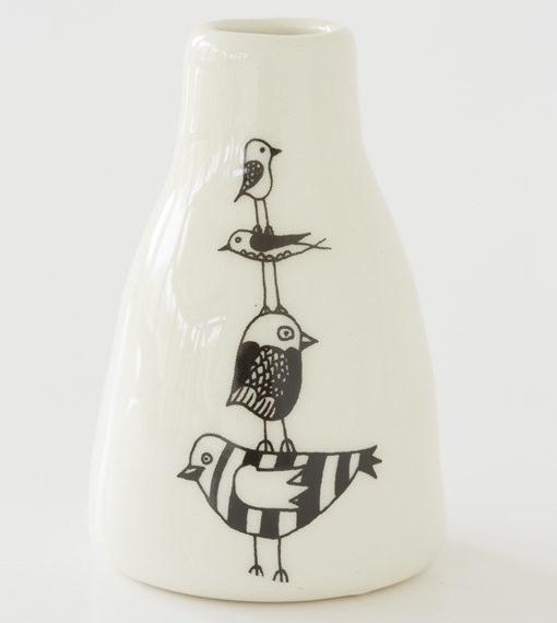 Short Vase - Stack of Birds