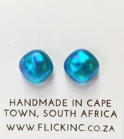 Dichroic Glass Earrings hyacinthine