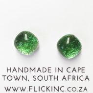 Dichroic Glass Earrings - Green