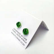 Dichroic Glass Earrings - Margarita Green