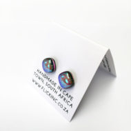 Dichroic Glass Earrings - Aurora PAttern