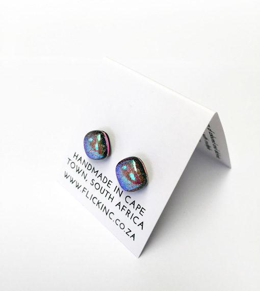Dichroic Glass Earrings - Aurora PAttern