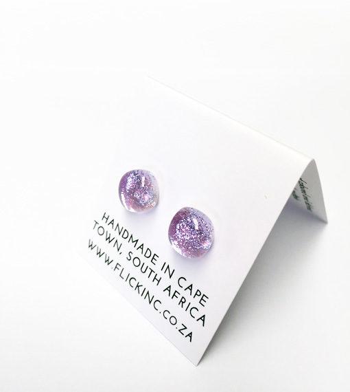 Dichroic Glass Earrings Pink Wonder Dust