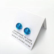 Dichroic Glass Earrings Sea Blue