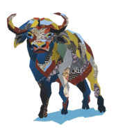 Water Buffalo Collage Big5 Artwork