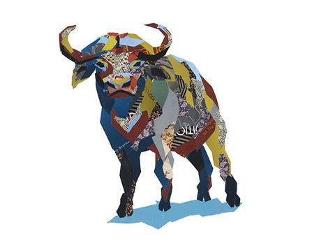 Water Buffalo Collage Big5 Artwork