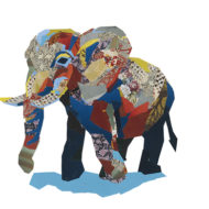 Elephant Collage - Flick Inc