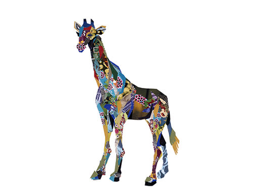 zoe mafham - giraffe collage