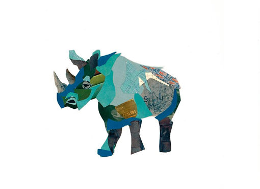 zoe mafham - Rhino Collage