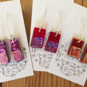 Dichroic Glass Earrings - Dangle Earrings