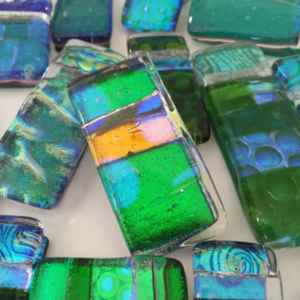 Dichroic Glass Pendants - Flick Glass (Green Range)
