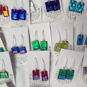 Dichroic Glass Earrings - Dangles