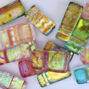 Dichroic Glass Pendants - Flick Glass (Gold Range)