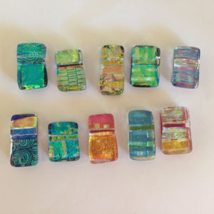 Dichroic Glass Pendants - Assortment